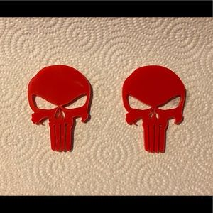 Independent Other - Red Acrylic Punisher Skulls